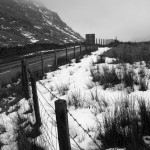 Snow on Kirkstone pass B&W